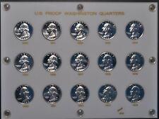 1950-1964 Proof Washington quarters in Capital Plastics holder.