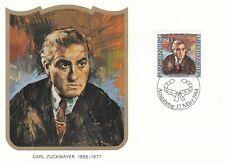 Liechtenstein 1984 Carl Zuckmayer Maxim Card FDC VGC