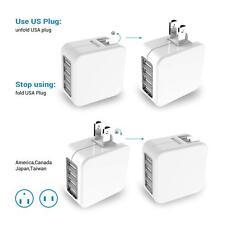 USB Plug Travel Charger Adaptor, 4 Port Universal World Wall Charger