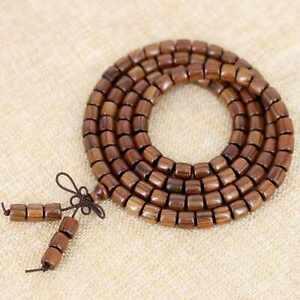 Natural Wooden Barrel beads buddha Bracelets 108pcs Elegant Wristband Classic