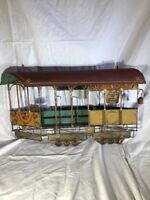 Vintage Mid Century C Curtis Jere Signed Metal Wall Art San Francisco Trolley 68