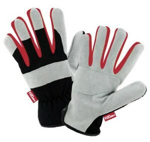 Hyper Tough Suede Leather Performance Work Gloves Large