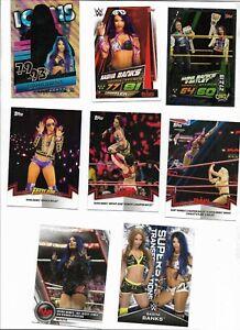 WWE Sasha Banks Card LOT w/Slam Attax Cards THE BOSS