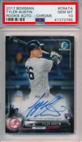 2017 Bowman Chrome Rookie Autograph Tyler Austin RC Auto PSA 10 Low POP Twins