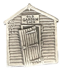 Old Garden Shed Brooch Handcrafted From English Pewter (BR0722)
