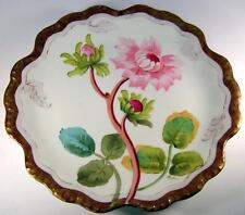 C1900 Elite Limoges Multi Flower Wall / Cabinet Charger Plaque Artist Signed