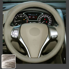 Steering Wheel Cover Beige Sew Wrap for Nissan Altima 13-18 Rogue X-Trail 14-16