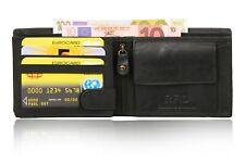New Men's Leather Bifold Wallet ID Card Holder RFID Safe Brown Black US Stock