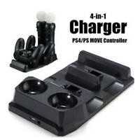 Double Port Charger Dock 4 in1 Charging Station For Sony PS4 Playstation VR PSVR