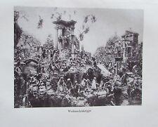 1918 WEIHnACHTSKRIPPE alter Druck antique Print