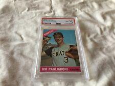 1966 TOPPS # 33 JIM PAGLIARONI ,PSA 8, PITTSBURG PIRATES FREE SHIPPING