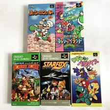 Lot 5 SNES Super Mario World 2 Yoshi Cookie Donkey Kong Star Fox SFC Japan Game