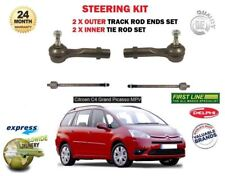 FOR CITROEN C4 GRAND PICASSO 2006-> 2x INNER 2x OUTER STEERING TIE TRACK ROD END