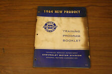 1964 Chevrolet New Product Training Manual ORIGINAL BOOKLET CORVETTE IMPALA