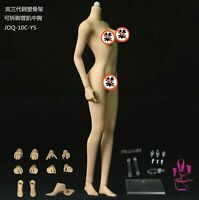 JIAOU DOLL 1/6 Scale Dismantle Foot Flexible Rubber Steel Frame Female Body Toy