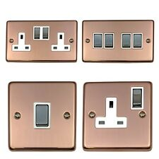 Bright Copper CBC2 Plug Sockets, Light Switches, Dimmers, Cooker, Toggle, Fuse