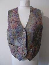 Women's Vintage Flower Pattern  V Neck  Waistcoat Vest by Principles  Size 14