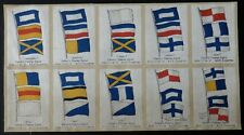 More details for nelsons famous signal complete uncut sheet of silk cards issued 1921 rare