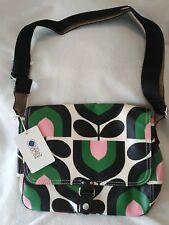 Orla Kiely Womens Small Satchel Messenger Bag Green Spring