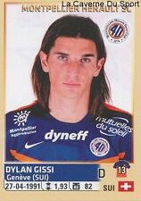 296 DYLAN GISSI SUISSE MONTPELLIER HERAULT.SC STICKER FOOTBALL 2015 PANINI ~