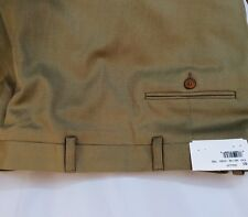 NEW WT HICKEY BY HICKEY FREEMAN DRESS PANTS SIZE 50 R WORSTED WOOL TAN