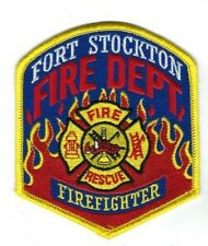 Fort Stockton (Pecos County) TX Texas Fire Rescue Dept. Firefighter patch - NEW!