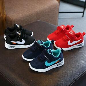 UK Kids Baby Infants Trainers Shoes Boys Girls Sport Running Toddler Gym Sneaker
