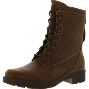 Timberland Womens Gracelyn Mid Laceup Brown Lace-Up Boot 7 Medium (B,M) 2063