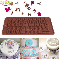 3D Silicone Alphabet Letter Trays Chocolate Mold Cake Decorating DIY Baking Tool