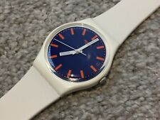 "SWATCH GENT ""BOAT TRIP"" WATCH GW163 MENS/LADIES/BOYS/GIRLS White/Blue"