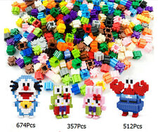 200Pcs Plastic Puzzle Building Blocks Bricks Children Kids Educational Toy Gift