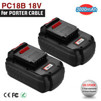 2 Pack 18V NiCad Battery for Porter Cable PC18B 18-Volt PCC489N PCMVC Cordless