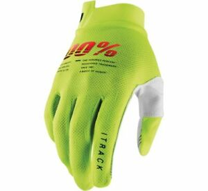 100% Men's iTrack Gloves - Flo Yellow / All Sizes