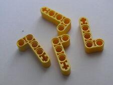 Lego 4 armatures jaunes / 4 yellow liftarm new neuf 8441 21305 9397 9396 9391