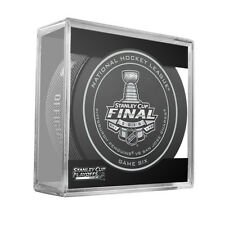 2016 NHL Penguins v Sharks Stanley Cup Final Game SIX On-Ice Hockey Puck W/Cube
