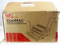 Akiles DuoMac Model 431 Wire 31 + Coil 41 Punching & Binding Machine in Box