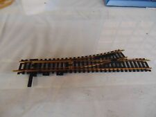 Atlas, HO scale, #4 left hand manual switch, brass rails, used, good condition