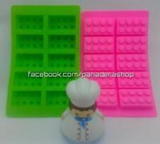 1 Piece Lego-Like Brick Chocolate Fondant Clay Jelly Silicone Soap Mold Molder