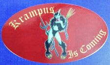 Set of 2 Krampus Decal Sticker Christmas Halloween Naughty Child Hooved Wench