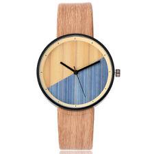 VANSVAR Simulated Wooden watch Men Women Quartz Analog Wood Leather Strap Watch