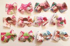 12 Medium size Cupcake Decorated Dog bows Dog Grooming Bows Child Bows Handmade