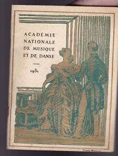 Academie Nationale de Musique et de Danse January 3 1931 Program Thais
