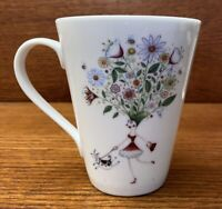 "Clare Mackie 2005 Royal Worcester ""THANK YOU"" Coffee Cup EUC"