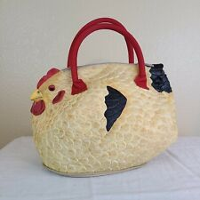 The Hen Rubber Chicken Purse Tote Clutch Handbag Chiq Urban Farming NY CTLT