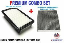 COMBO AIR FILTER + CARBON CABIN AIR FILTER for KIA FORTE5 FORTE KOUP 1.6L TURBO