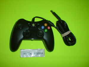 BLACK Wired controller for Microsoft XBOX 360 system - Tested & Works Great