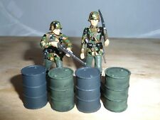 1/32 SCALE SOLID RESIN  OIL DRUMS HAND PAINTED FOR SCENES & DIORAMAS 4 PACK
