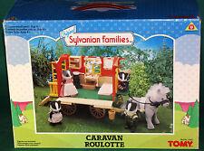 Original Sylvanian Families Caravan Roulotte TOMY 1989 MIB