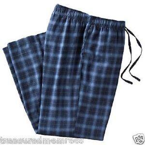 Croft & Barrow Pajama Bottoms Lounge Pants ~ Size Small (28-30) ~ Navy Plaid
