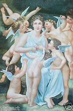"""Extra Large Oil Painting On Canvas 48""""x 72""""- Woman with Cherubs"""